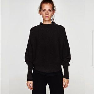 Zara Ribbed Slouchy Dolman Sweater